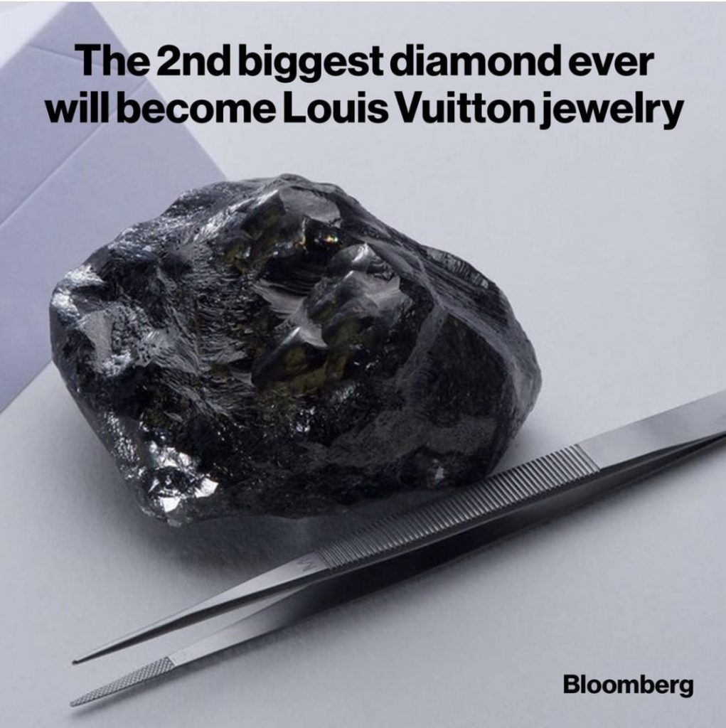 2nd biggest diamond will be a Louis Vuitton collection