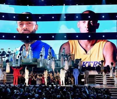 Performers at Grammys pay homage to Nipsey Hussle and Kobe Bryant