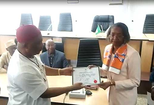 Uzodinma-receiving-his-certificate-of-return-from-INEC