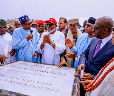 (Photos) President Buhari inaugurates Ore flyover interchange in Ondo