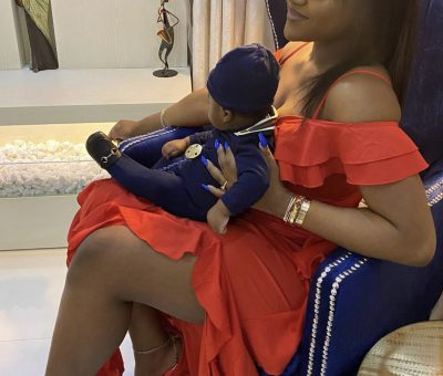 'Life no pass this one!' Davido gushes over Chioma and son
