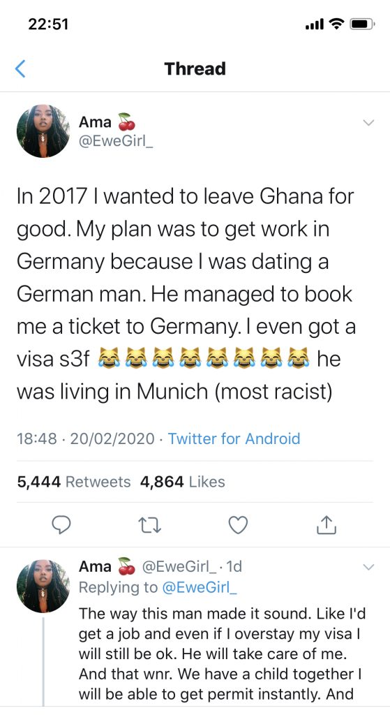 Lady narrates her ordeal leaving Africa for Germany with her German 'husband'