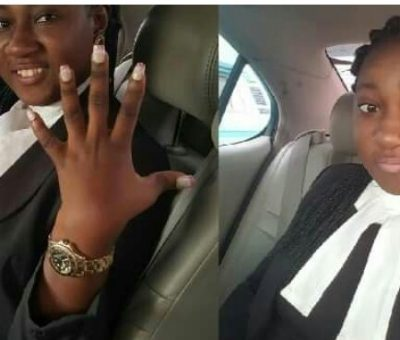 """We fix nails too"" – Nigerian Physically Challenged Lawyer shares her experience at a salon."