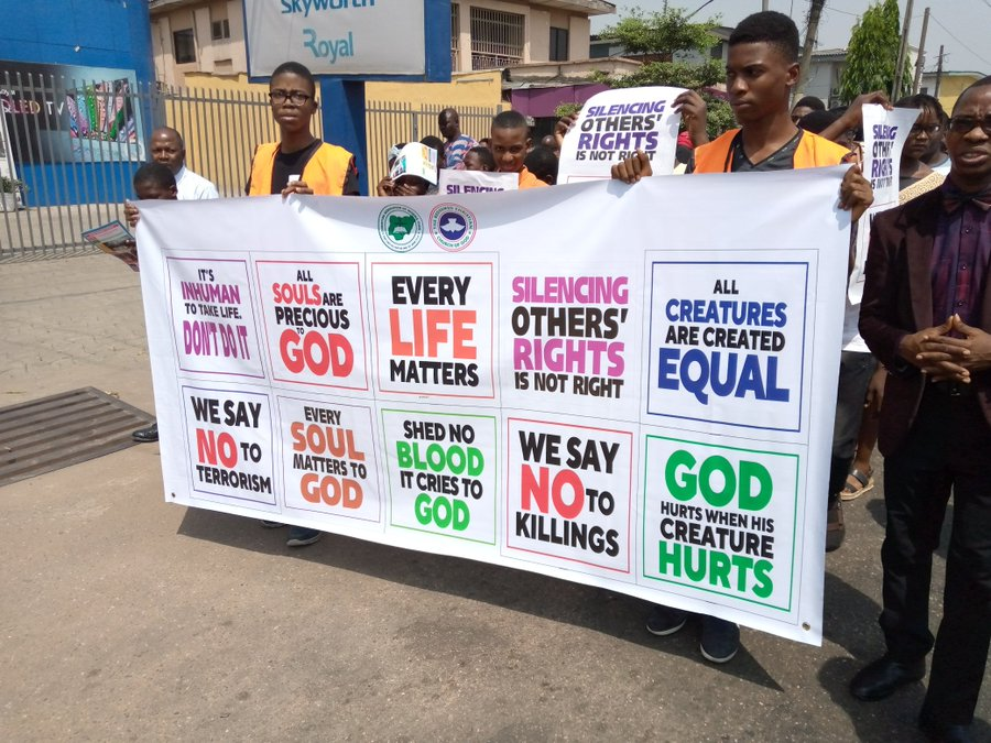 (Photos, Video) RCCG's Pastor Adeboye leads protest against insecurity