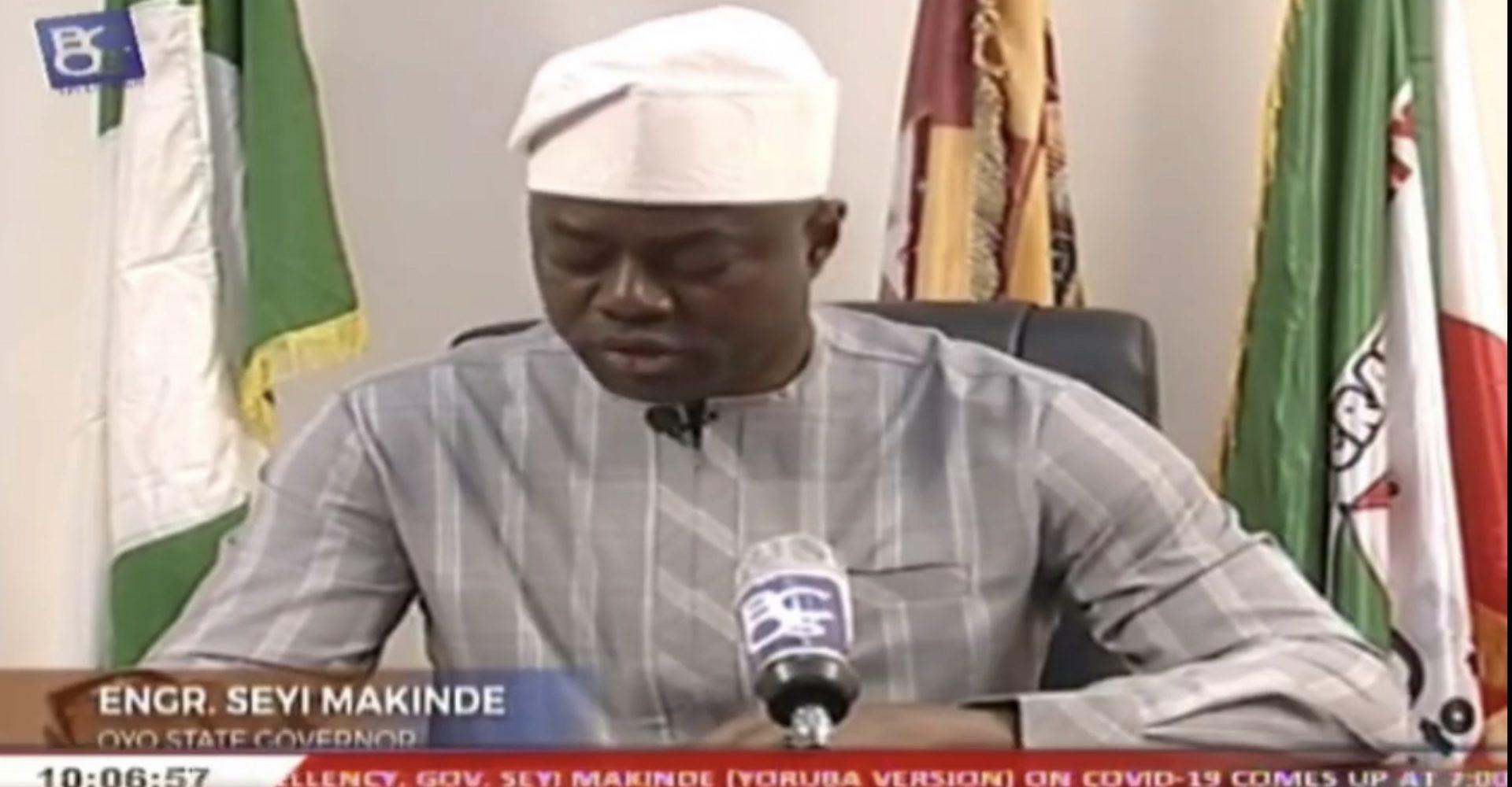 Governor Seyi Makinde on coronavirus in Oyo State
