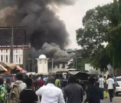 United Bank for Africa (UBA) Dugbe Branch, Ibadan Gutted By fire
