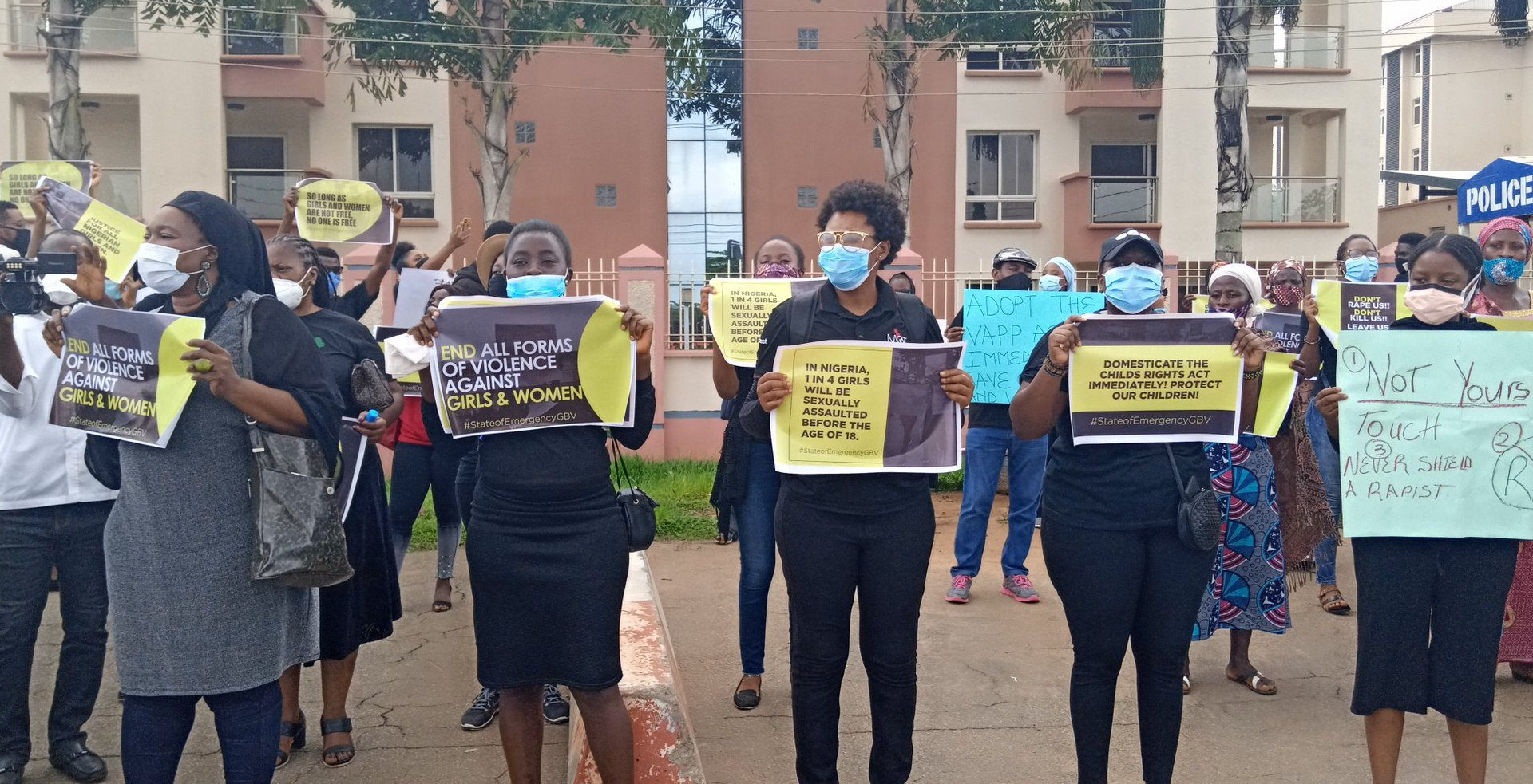 Protests Erupts in Abuja, Lagos, Protesters Demands Declaration of State of Emergency on Gender Based Violence