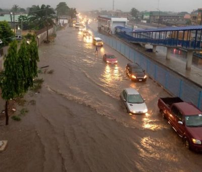 Photos; videos: Lagos flooded again after heavy downpour