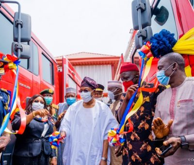 Photos: Rauf Aregbesola commissions 10 fire trucks worth N1.8B in Lagos