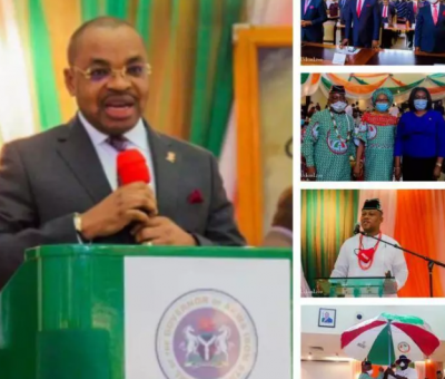 Gov. Udom Swears-in New A'Ibom State Executive Council Members and New PDP Executives