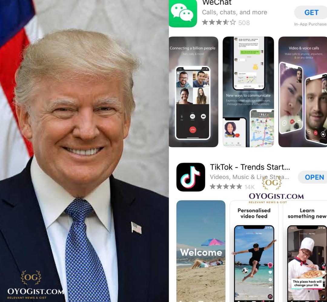 Trump US govt to ban TikTok and WeChat