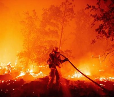 Huge Acres of Land burnt in wildfires across the US West Coast