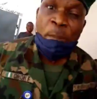 """I want Justice""- Lady cries out after being beaten by a member of the Nigerian Army"