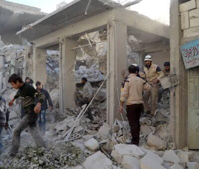 Severe Russian strikes kill dozens of Turkey-backed rebels