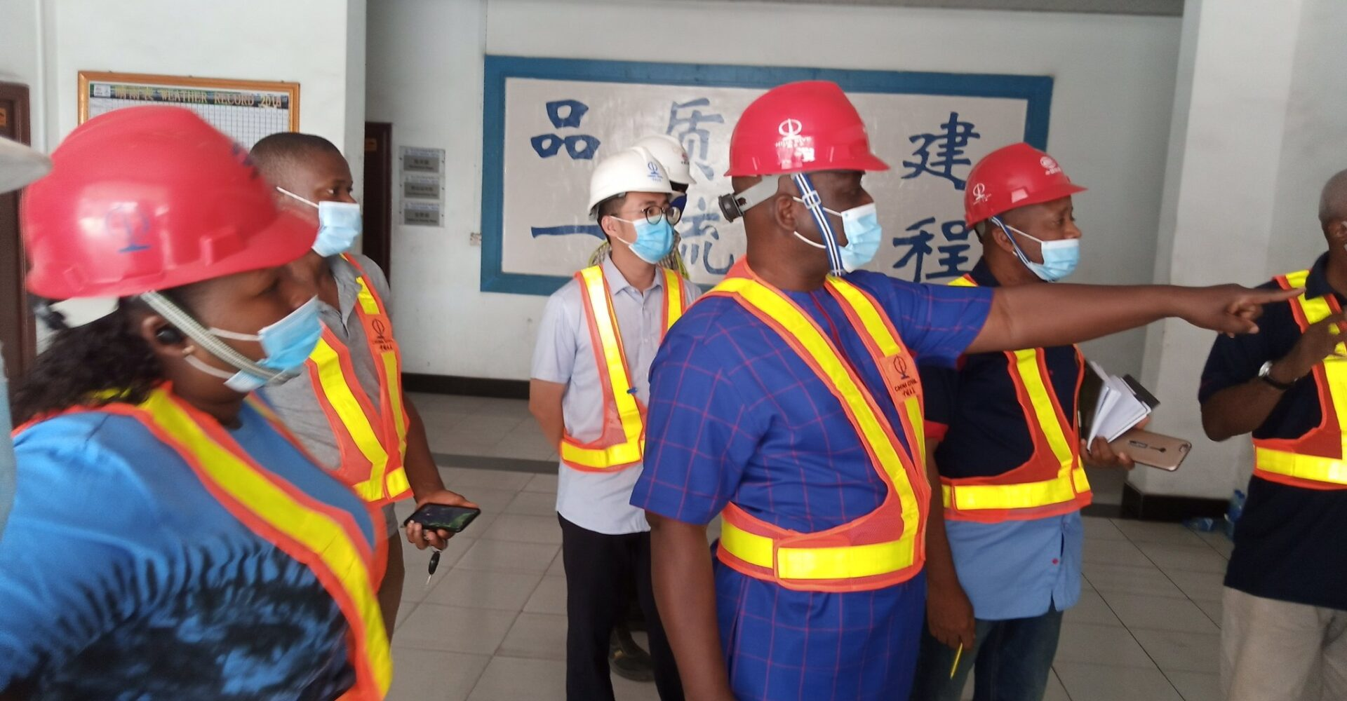 Lagos state Debt Management Office inspects the ongoing Blue Line Light Rail Project