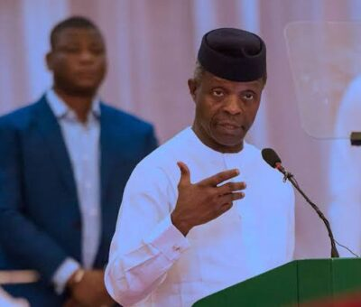 'The Problem of Our Nation won't be Solved by Restructuring'- Osinbajo Says