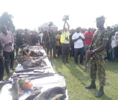 Cultist youths surrender to police in Rivers, submit weapon[Photos]