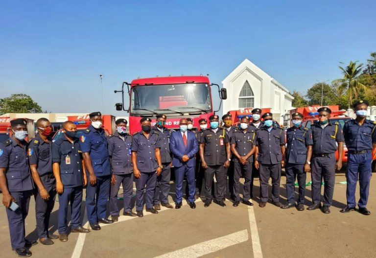 Enugu State Governor Donates Huge Water Tankers and 4 Response vehicles to State Fire Service