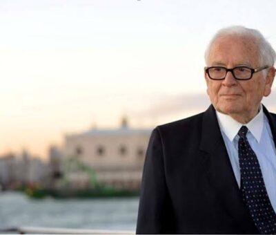 BREAKING NEWS: Italian Designer, Pierre Cardin dies at age 98