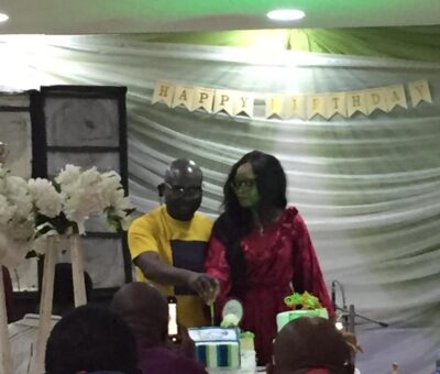 Colleagues hold birthday party for noble presenter Yemi Sonde