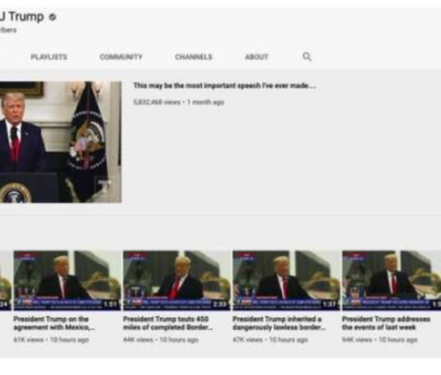 YouTube suspends President Donald Trump's channel and removed a video for violating its policy