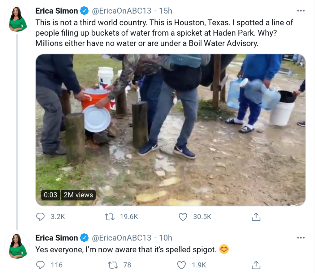 (VIDEO) Bad weather force Americans in Texas to queue for water