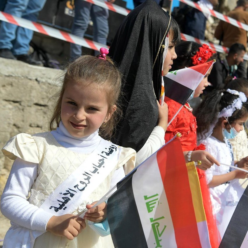 Photos as Pope Francis makes first Papal visit to Iraq