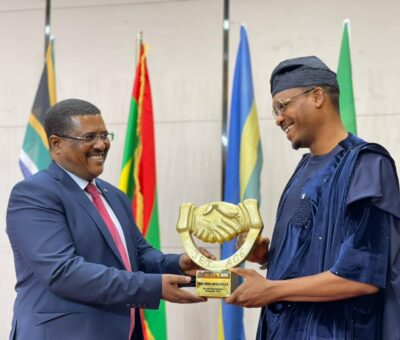 """Photos/Video: Hon. Shina Peller receives Nation Builders """"Distinguished Personality"""" award in Ethiopia"""