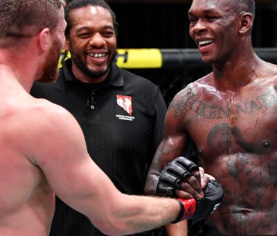 Isreal Adesanya reacts to his defeat against Jan Blachowicz