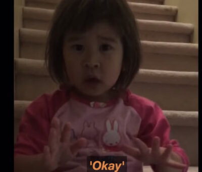 VIDEO- Toddler gives mum  serious advice after hearing parents fight