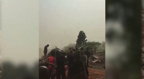 VIDEO: Sad moment man cries out after his house was demolished in Enugu State