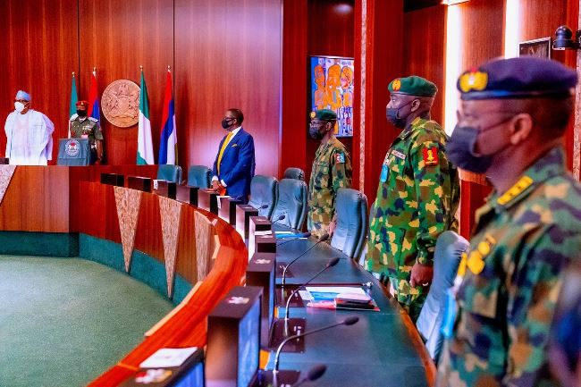 President Buhari presides over crucial security meeting