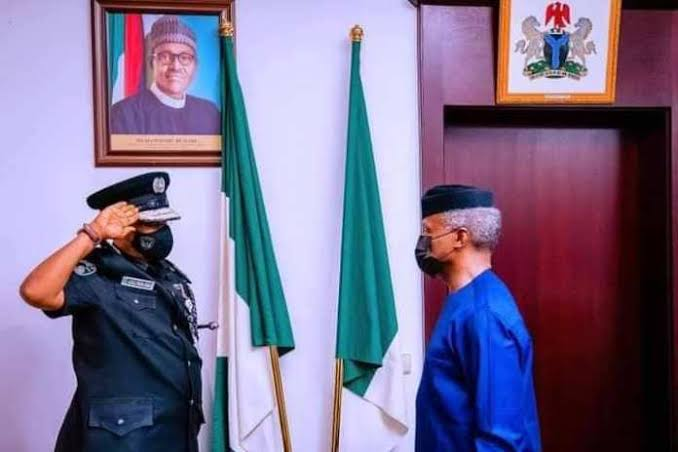 Photos: Vice President, Yemi Osinbajo decorates acting Inspector General of Police, Alkali Baba