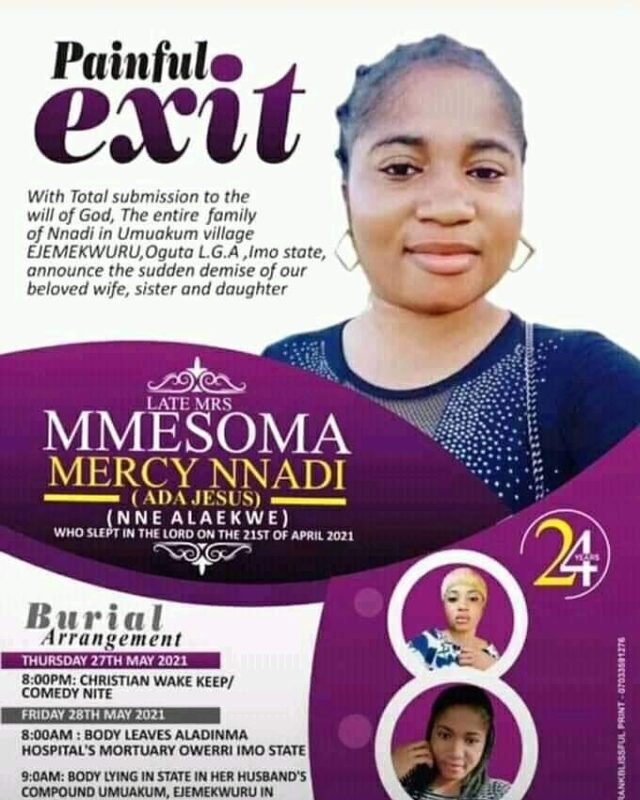 Family of Late Comedienne, Ada Jesus announces burial date