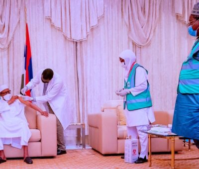 President Buhari has receives second dose of AstraZeneca COVID-19 vaccine