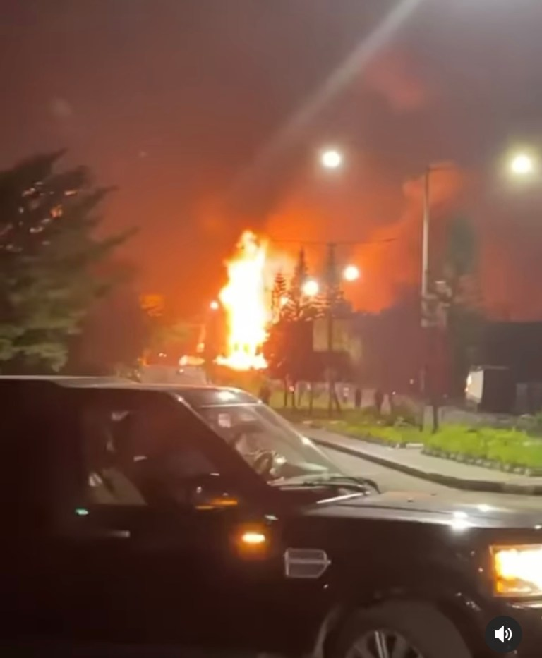13 injured, 25 cars destroyed as Liquefied Petroleum Gas (LPG) tanker explodes in Ikeja, Lagos