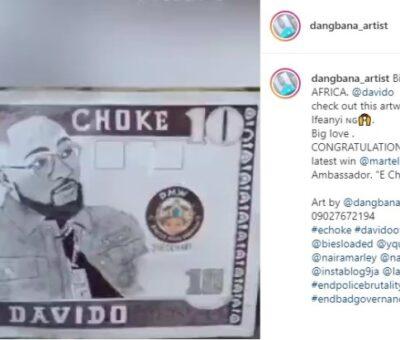 "IMPRESSIVE: Talented Nigerian artist creates currency for Davido named ""E Choke"""