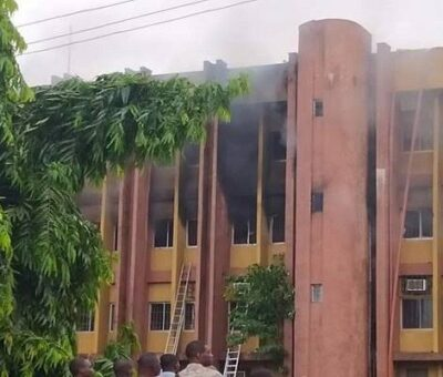 Colossal loses as Fire razes Asaba Nysc Office