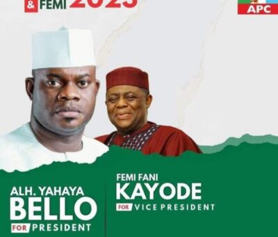 (PHOTO): Yahaya Bello and Fani-Kayode's campaign posters surface online