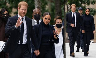 Prince Harry and Meghan visits 9/11 Memorial Centre