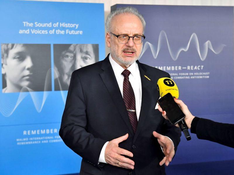 Latvia's president tests positive for Coronavirus